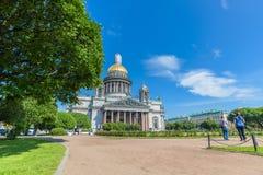 HelgonIsaac's domkyrka den största ryska ortodoxa domkyrkan Royaltyfria Foton
