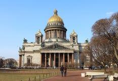 HelgonIsaacs domkyrka. St Petersburg Ryssland. Arkivfoto
