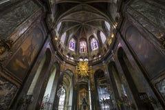 HelgonJacques kyrka, Compiegne, Oise, Frankrike arkivbild