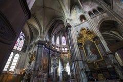 HelgonJacques kyrka, Compiegne, Oise, Frankrike royaltyfri fotografi