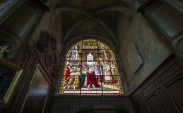 HelgonJacques kyrka, Compiegne, Oise, Frankrike Arkivfoto