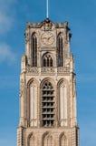 HelgonLaurens kyrka i towncentren av Rotterdam Fotografering för Bildbyråer