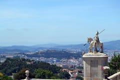 HelgonLonginus staty på Braga, Portugal royaltyfri fotografi