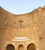 HelgonMarias basilika, änglar och martyr i Rome Italien Arkivfoto