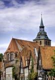 HelgonMichaelis kyrka på Luneburg royaltyfria bilder