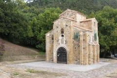 HelgonMiguel de Lillo kyrka, Asturies, Spanien Royaltyfria Bilder