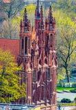 HelgonOna-kyrka i Vilnius fotografering för bildbyråer