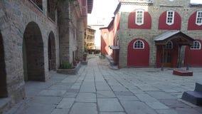 HelgonPanteleimon kloster, den huvudsakliga kyrkan, Mount Athos, Grekland lager videofilmer
