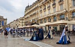 HelgonRoch Day procession Royaltyfria Bilder