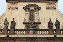 HelgonSalvator kyrka i Prague Royaltyfri Fotografi