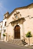 HelgonSebastian kyrka, Militello, Sicilien Arkivbilder