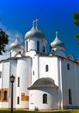 HelgonSophia domkyrka, stora Novgorod, slut upp i en solig dag Royaltyfri Foto