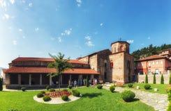 HelgonSophia kyrka i den macedonian staden Ohrid arkivbild