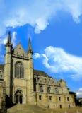 HelgonWaltrude kyrka i Mons, Belgien Arkivfoton