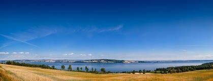 Helgoya Island Lake Mjosa Panorama Oppland Norway Stock Photography