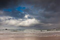 Helgueras海滩  库存照片