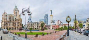 Helhet av den Europa fyrkanten i Batumi royaltyfri foto