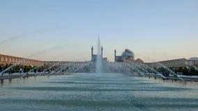 Helhet av den Naqsh-e Jahan fyrkanten i Isfahan stock video