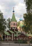 Helhet av kyrkan av Treenighet i NataNatashine Lyubertsy Ryssland Fotografering för Bildbyråer