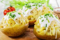 Helhet bakad potatis Arkivbilder