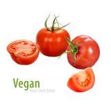 Helhet och halv tomat Royaltyfria Bilder