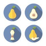 Helhet och klippta päron Plan symbol Fotografering för Bildbyråer