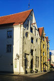 Helheten inhyser tre systrar i gamla Tallinn, Estland Arkivbilder