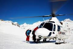 Heli-Esqui Imagens de Stock Royalty Free