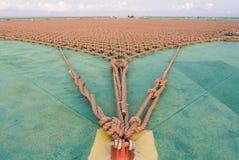 Heli pokład w takielunek platformie Fotografia Royalty Free