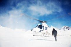 Heli-Ski photographie stock libre de droits