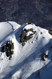 Heli ski in Krasnaya Polyana. Sochi - capital of Winter Olympic Games 2014. Russia Stock Photography
