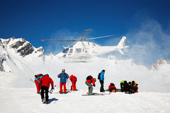 Heli-Skiing Royalty Free Stock Images