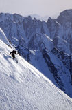 Heli-skiing in the Chugach Mountains of Alaska Stock Photos