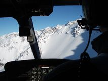 Heliboarding in the Methven Range of New Zealand Stock Photos