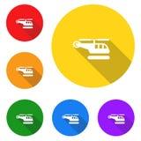 Helicóptero, ícone, sinal, a melhor ilustração 3D Imagem de Stock