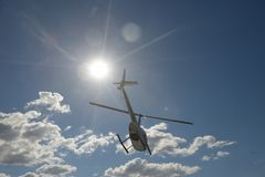 Helicóptero foto de archivo