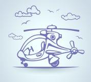 Helicóptero abstracto, stylization, vector Imagen de archivo