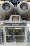 Helicóptero Aeroespacial da turbina do detalhe COMO o puma 332B1 super Fotografia de Stock Royalty Free
