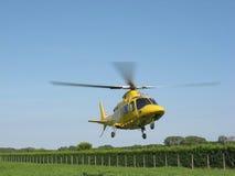 Helicóptero amarillo Fotos de archivo