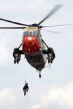 Helicóptero belga del rescate de Sea King de la marina de guerra Imágenes de archivo libres de regalías