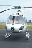 Helicóptero blanco Fotos de archivo libres de regalías