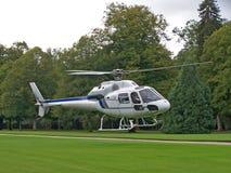 Helicóptero branco Imagem de Stock Royalty Free