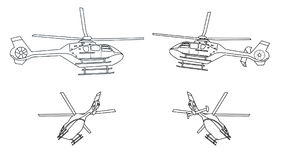 Helicóptero branco Imagens de Stock