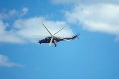 Helicóptero checo de mil. Mi-24 Fotos de Stock Royalty Free