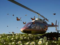Helicóptero civil Fotos de Stock