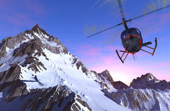 Helicóptero civil Fotografia de Stock Royalty Free
