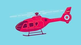 Helicóptero civil del vector stock de ilustración