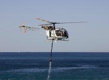 Helicóptero contraincendios Fotografía de archivo