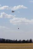 Helicóptero contraincendios Foto de archivo libre de regalías