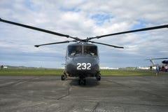 Helicóptero da guarda costeira Imagem de Stock